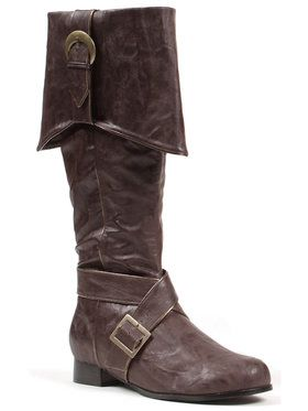 Mens Brown Pirate Boots