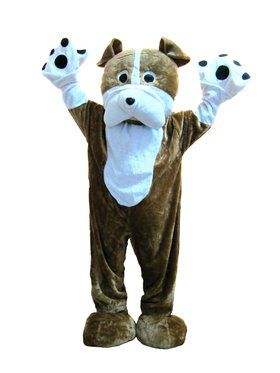 Mens Bull Dog Mascot Costume
