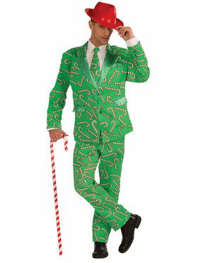 Mens Candy Cane Suit for Halloween