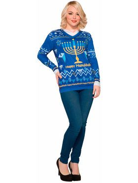 Mens Chanukah Sweater for Halloween