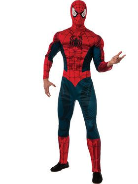 Men's Classic Spiderman Muscle Chest Costume