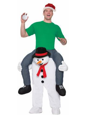 Mens Cold Shoulders Snowman Ride On Costume