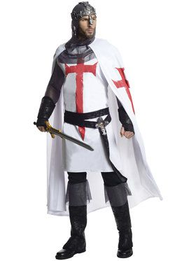 Mens Deluxe Crusader Costume