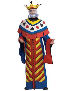 Mens Deluxe Playing Card King Costume