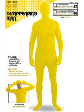 Men's Disappearing Man Suit Yellow