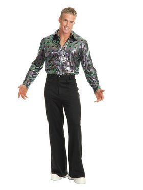 Men's Black Disco Pants