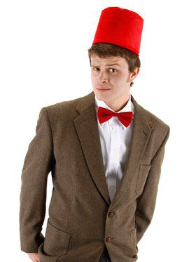 Men's Dr. Who Fez and Bowtie Kit