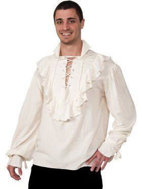 Mens Ecru Pirate Shirt