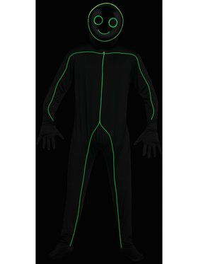 EL LU Stick Figure Men's Costume