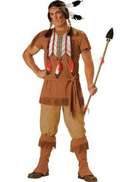 Mens Elite Indian Brave Costume