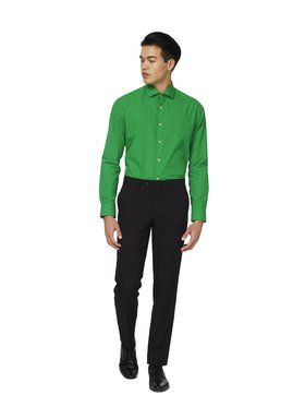 Opposuits Men's Evergreen Solid Shirt