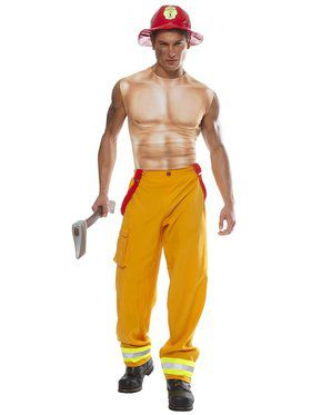 Mens Firefighter Dude Costume