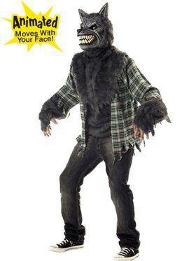 Mens Full Moon Madness Werewolf Costume