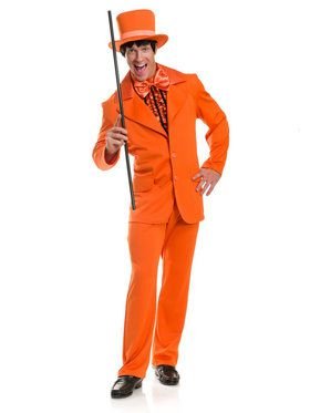 Men's Funny Costume Tuxedo Orange