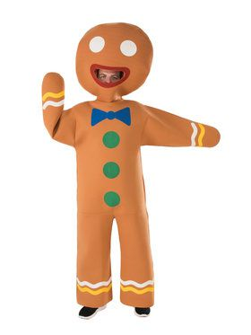 Mens Gingerbread Man Costume for Halloween