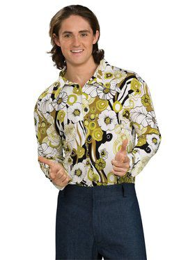 Mens Green Groovy Shirt