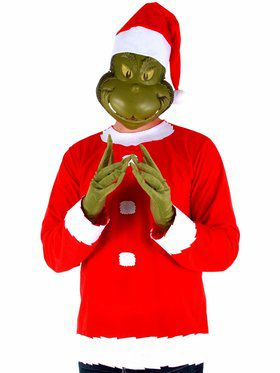 Men's Grinch Costume Kit Men's Costume
