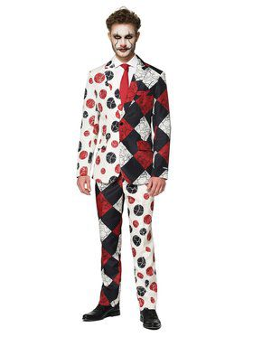 Opposuits Men's Halloween Red Clown Halloween Suit