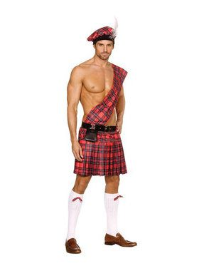 Mens Hot Scottie Costume
