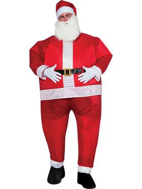Mens Inflatable Santa Costume