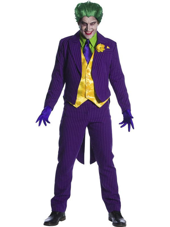 Mens Halloween The Joker Style Straight Jacket Costume Includes Top