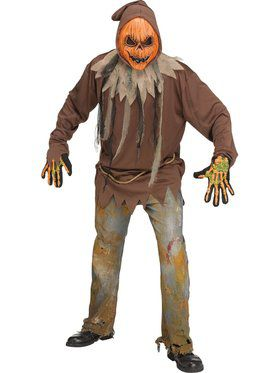 Mens Light Up Pumpkin Costume