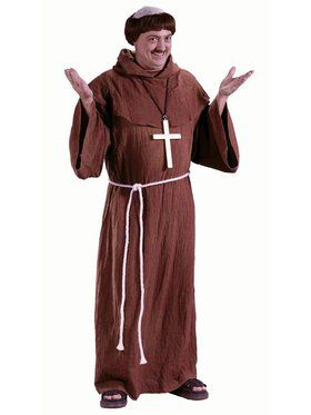 Mens Medieval Monk Robe Costume