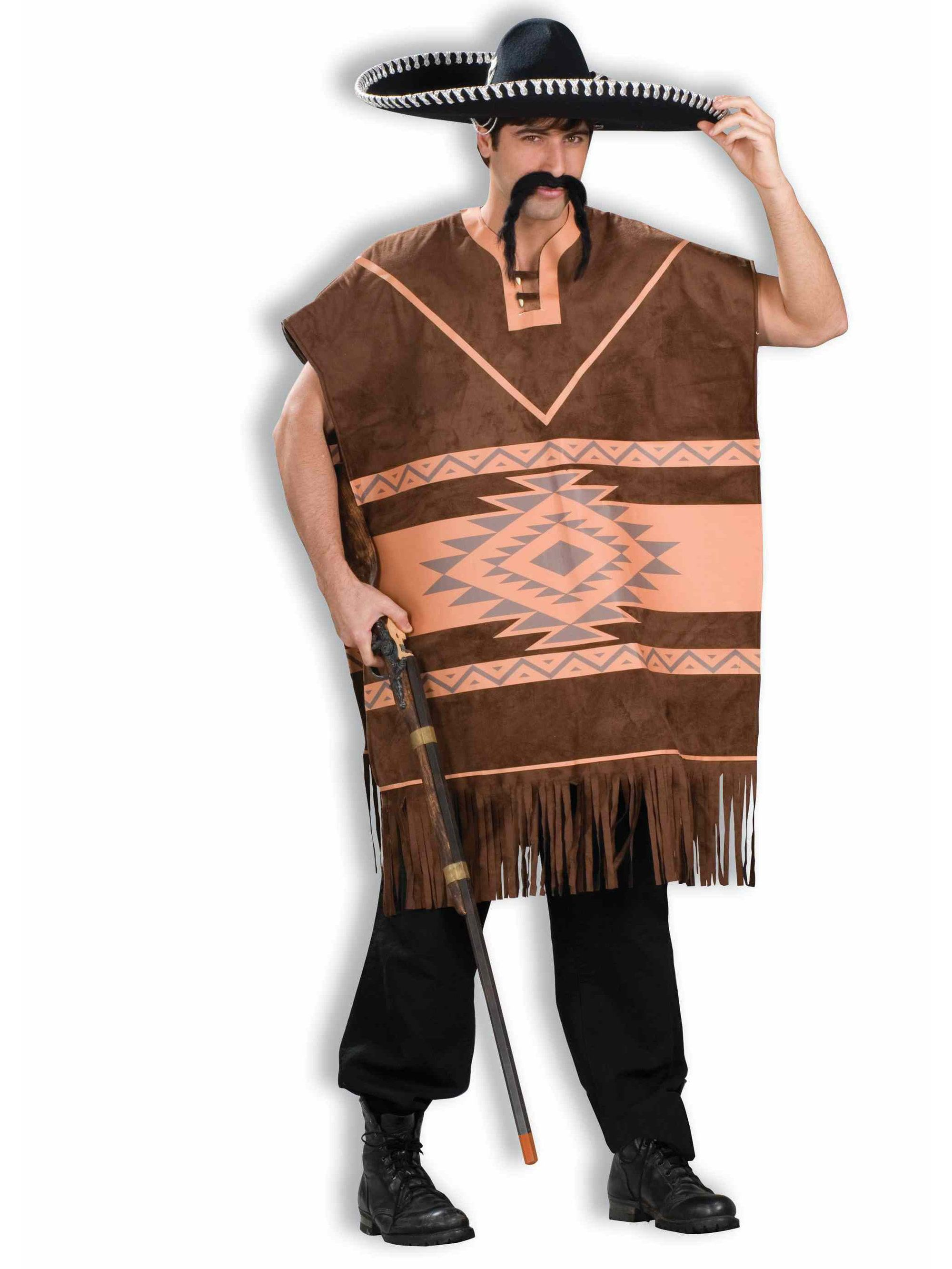Mens Mexican Poncho - Mens Costumes for 2018 | Wholesale