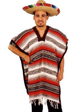 Men's Mexican Poncho
