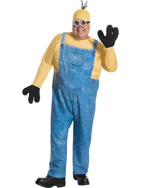 Men's Minion Kevin Plus Costume