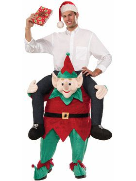 Mens Myself On An Elf Ride On Costume