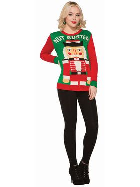 Mens Nut Buster Christmas Sweater