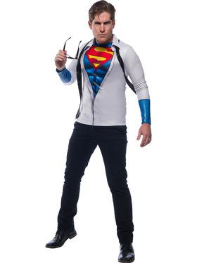 Superman Photo Real Costume Top for Men