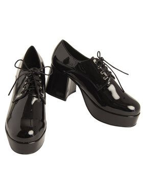Black Pimp Platform Mens Shoes