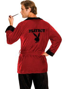 Mens Playboy Smoking Jacket Adult