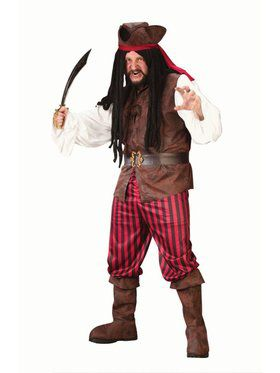 Mens Plus High Seas Buccaneer Costume