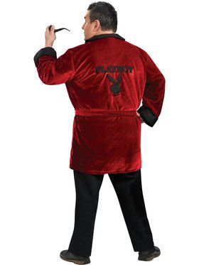 Mens Plus Playboy Smoking Jacket Adult