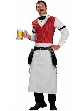Men's Plus Size Bartender Costume