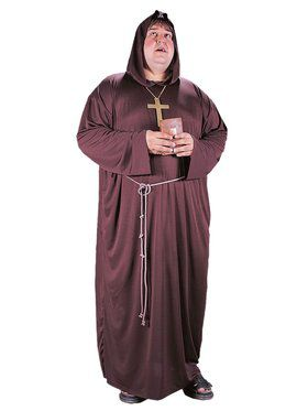 Mens Plus Size Monk Robe Costume