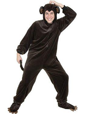 Plus Adult's Micro Fiber Monkey Costume