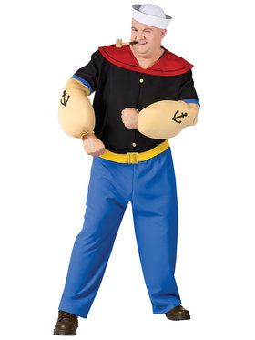 Mens Plus Size Popeye Costume