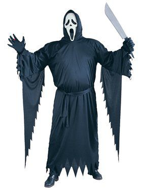 Mens Plus Size Scream Ghost Face Costume