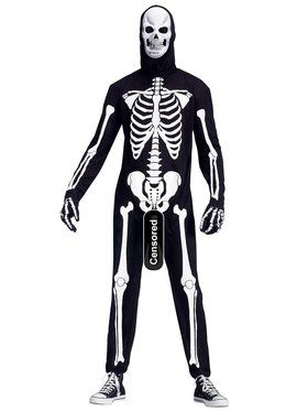 Men's Plus Size Skele-boner Costume