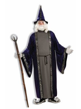 Plus Size Wizard Costume For Men