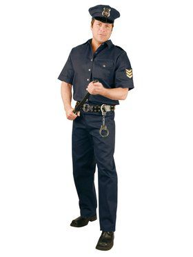 Men's Police Suit Adult Costume