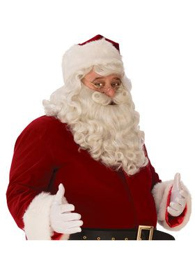 Mens Premium Santa Beard and Wig