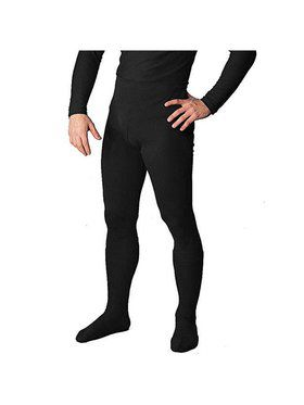 Black Professional Tights w/ Feet for Men