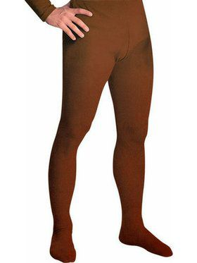 Brown Professional Tights w/ Feet for Men