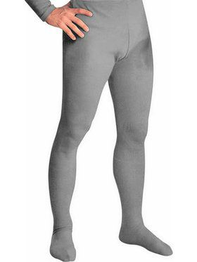 Gray Professional Tights w/ Feet for Men