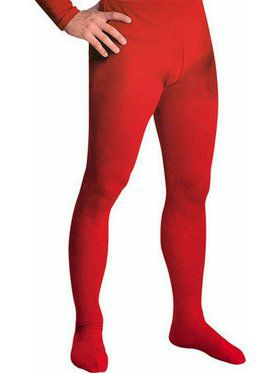 Red Professional Tights w/ Feet for Men